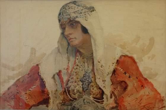 Macedonian Woman paint